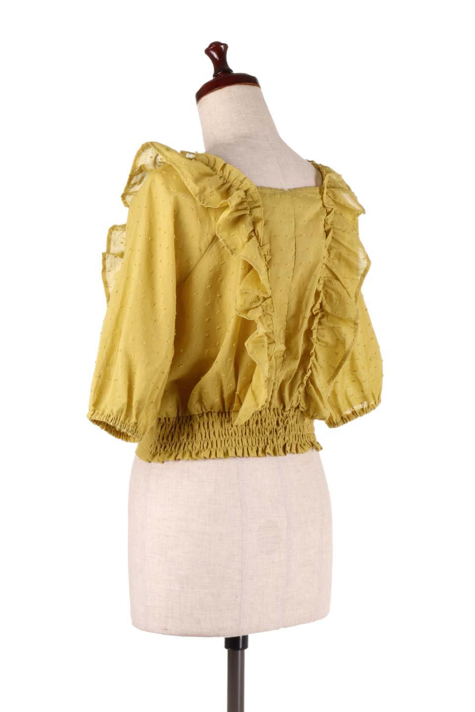 Cut-DobbyFrillBlouseカットドビー・フリルブラウス大人カジュアルに最適な海外ファッションのothers(その他インポートアイテム)のトップスやシャツ・ブラウス。カットドビー織が可愛いフリルブラウス。ポツポツと見えるドビー織が可愛いアイテム。/main-7