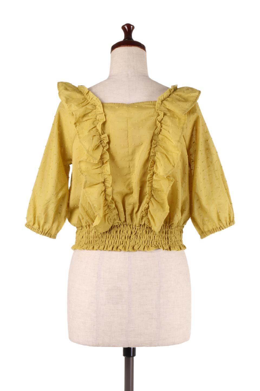 Cut-DobbyFrillBlouseカットドビー・フリルブラウス大人カジュアルに最適な海外ファッションのothers(その他インポートアイテム)のトップスやシャツ・ブラウス。カットドビー織が可愛いフリルブラウス。ポツポツと見えるドビー織が可愛いアイテム。/main-8