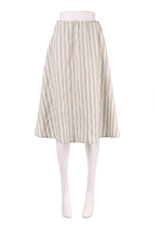 Multi-ColorStripedDobbySkirtマルチカラーストライプ・ミディ丈スカート大人カジュアルに最適な海外ファッションのothers(その他インポートアイテム)のボトムやスカート。爽やかなストライプが綺麗なMidi丈スカート。重くなりがちな丈の長さですが、細身のストライプですっきり着こなせます。/main-10