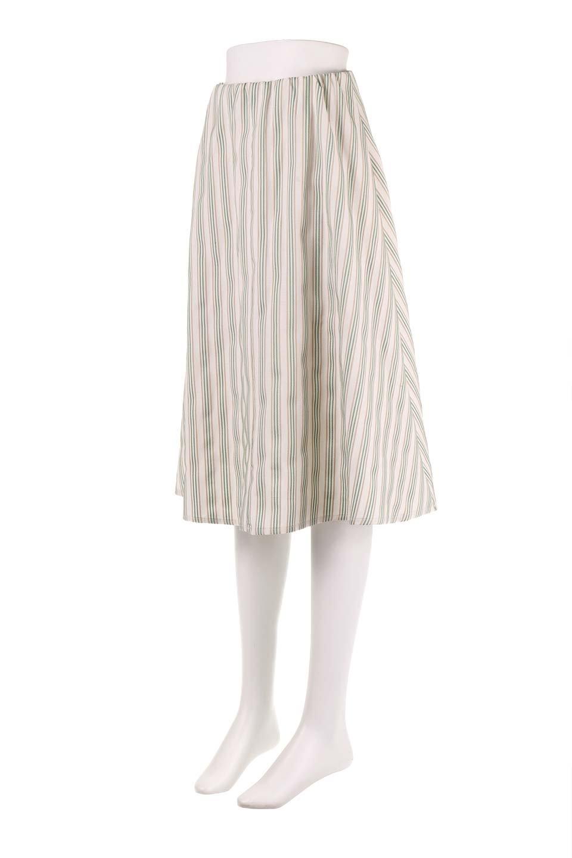 Multi-ColorStripedDobbySkirtマルチカラーストライプ・ミディ丈スカート大人カジュアルに最適な海外ファッションのothers(その他インポートアイテム)のボトムやスカート。爽やかなストライプが綺麗なMidi丈スカート。重くなりがちな丈の長さですが、細身のストライプですっきり着こなせます。/main-11