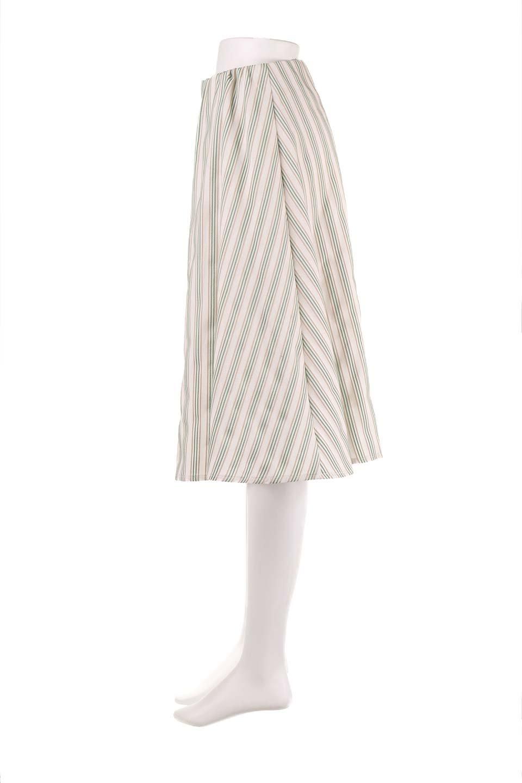 Multi-ColorStripedDobbySkirtマルチカラーストライプ・ミディ丈スカート大人カジュアルに最適な海外ファッションのothers(その他インポートアイテム)のボトムやスカート。爽やかなストライプが綺麗なMidi丈スカート。重くなりがちな丈の長さですが、細身のストライプですっきり着こなせます。/main-12
