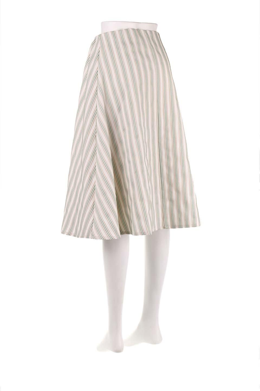Multi-ColorStripedDobbySkirtマルチカラーストライプ・ミディ丈スカート大人カジュアルに最適な海外ファッションのothers(その他インポートアイテム)のボトムやスカート。爽やかなストライプが綺麗なMidi丈スカート。重くなりがちな丈の長さですが、細身のストライプですっきり着こなせます。/main-13