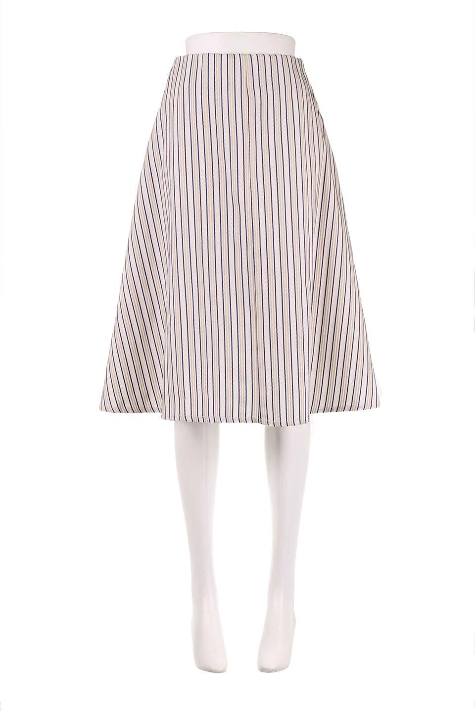 Multi-ColorStripedDobbySkirtマルチカラーストライプ・ミディ丈スカート大人カジュアルに最適な海外ファッションのothers(その他インポートアイテム)のボトムやスカート。爽やかなストライプが綺麗なMidi丈スカート。重くなりがちな丈の長さですが、細身のストライプですっきり着こなせます。/main-5