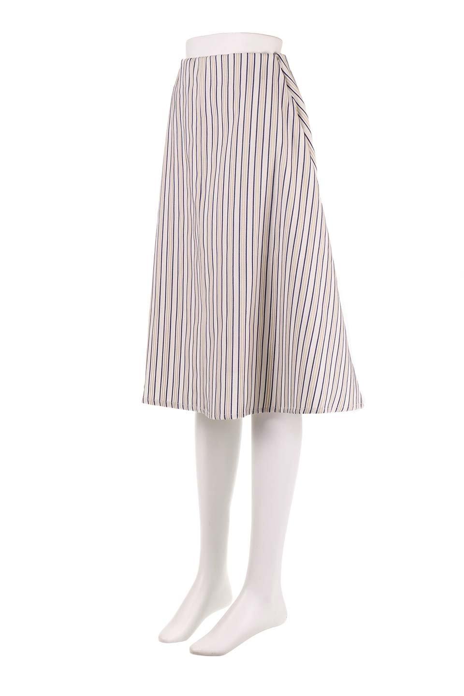 Multi-ColorStripedDobbySkirtマルチカラーストライプ・ミディ丈スカート大人カジュアルに最適な海外ファッションのothers(その他インポートアイテム)のボトムやスカート。爽やかなストライプが綺麗なMidi丈スカート。重くなりがちな丈の長さですが、細身のストライプですっきり着こなせます。/main-6