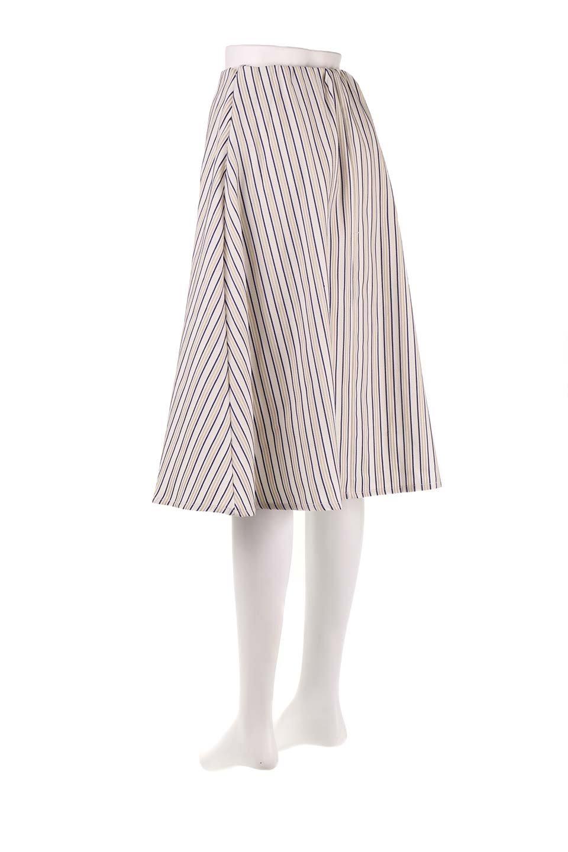 Multi-ColorStripedDobbySkirtマルチカラーストライプ・ミディ丈スカート大人カジュアルに最適な海外ファッションのothers(その他インポートアイテム)のボトムやスカート。爽やかなストライプが綺麗なMidi丈スカート。重くなりがちな丈の長さですが、細身のストライプですっきり着こなせます。/main-8