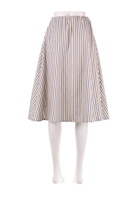 Multi-ColorStripedDobbySkirtマルチカラーストライプ・ミディ丈スカート大人カジュアルに最適な海外ファッションのothers(その他インポートアイテム)のボトムやスカート。爽やかなストライプが綺麗なMidi丈スカート。重くなりがちな丈の長さですが、細身のストライプですっきり着こなせます。/main-9