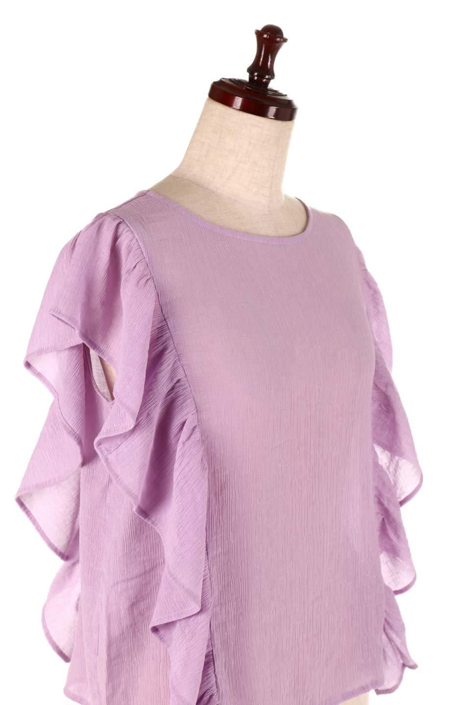 FrilledOpenBackBlouseオープンバック・フリルブラウス大人カジュアルに最適な海外ファッションのothers(その他インポートアイテム)のトップスやシャツ・ブラウス。ボリューム感のあるフリルが可愛いオープンバックのブラウス。肩から裾にかけての大き目フリルが体系隠し効果にもなる人気アイテム。/main-15