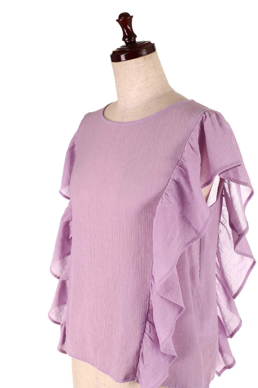 FrilledOpenBackBlouseオープンバック・フリルブラウス大人カジュアルに最適な海外ファッションのothers(その他インポートアイテム)のトップスやシャツ・ブラウス。ボリューム感のあるフリルが可愛いオープンバックのブラウス。肩から裾にかけての大き目フリルが体系隠し効果にもなる人気アイテム。/main-17