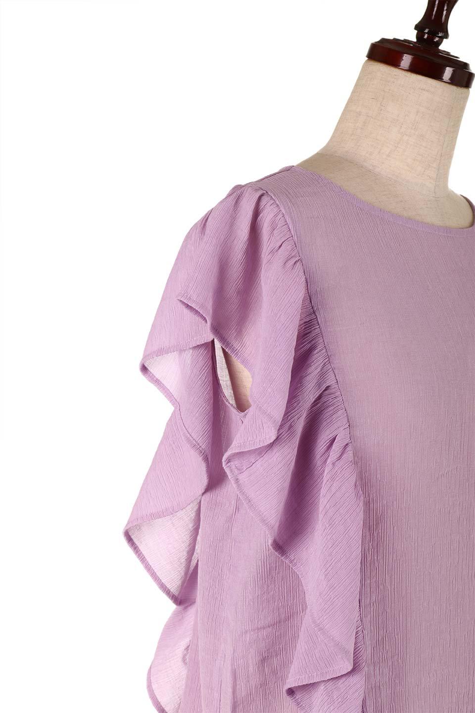FrilledOpenBackBlouseオープンバック・フリルブラウス大人カジュアルに最適な海外ファッションのothers(その他インポートアイテム)のトップスやシャツ・ブラウス。ボリューム感のあるフリルが可愛いオープンバックのブラウス。肩から裾にかけての大き目フリルが体系隠し効果にもなる人気アイテム。/main-18