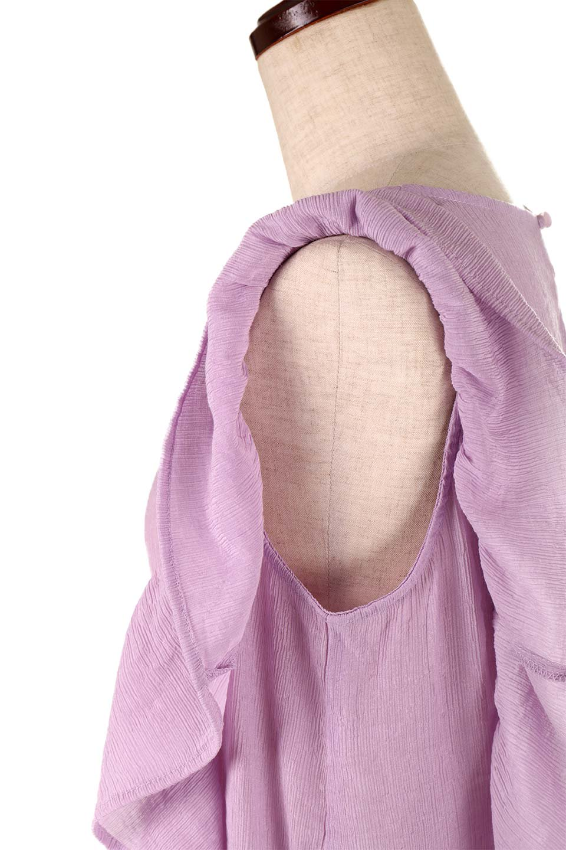 FrilledOpenBackBlouseオープンバック・フリルブラウス大人カジュアルに最適な海外ファッションのothers(その他インポートアイテム)のトップスやシャツ・ブラウス。ボリューム感のあるフリルが可愛いオープンバックのブラウス。肩から裾にかけての大き目フリルが体系隠し効果にもなる人気アイテム。/main-20