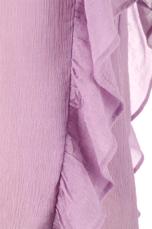 FrilledOpenBackBlouseオープンバック・フリルブラウス大人カジュアルに最適な海外ファッションのothers(その他インポートアイテム)のトップスやシャツ・ブラウス。ボリューム感のあるフリルが可愛いオープンバックのブラウス。肩から裾にかけての大き目フリルが体系隠し効果にもなる人気アイテム。/main-23