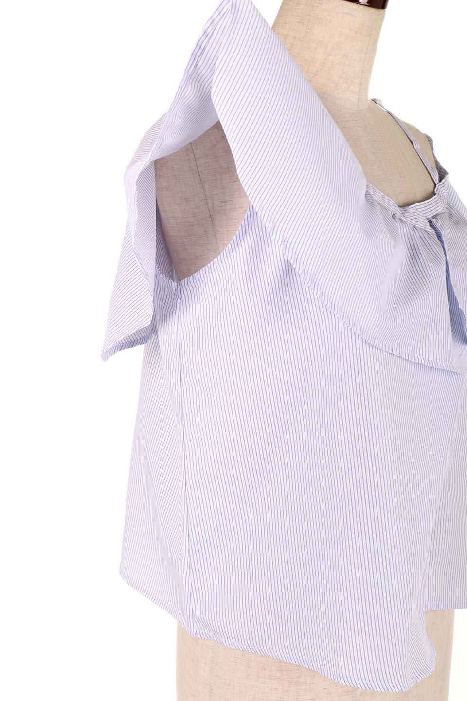 AsymmetricalOneShoulderStripedBlouseアシメントリー・ワンショルダーブラウス大人カジュアルに最適な海外ファッションのothers(その他インポートアイテム)のトップスやシャツ・ブラウス。アシメントリーデザインが可愛いストラップ付ワンショルダーブラウス。大き目のフリルがうまく二の腕を隠してくれる嬉しいアイテムです。/main-20