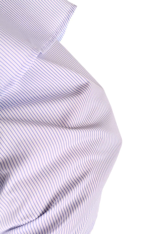 AsymmetricalOneShoulderStripedBlouseアシメントリー・ワンショルダーブラウス大人カジュアルに最適な海外ファッションのothers(その他インポートアイテム)のトップスやシャツ・ブラウス。アシメントリーデザインが可愛いストラップ付ワンショルダーブラウス。大き目のフリルがうまく二の腕を隠してくれる嬉しいアイテムです。/main-22