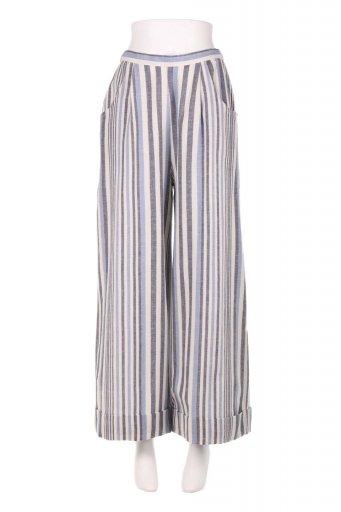 海外ファッションや大人カジュアルのためのボヘミアンブランドANGIE(アンジー)のMulti Striped Wide Leg Pants マルチストライプ・ワイドパンツ
