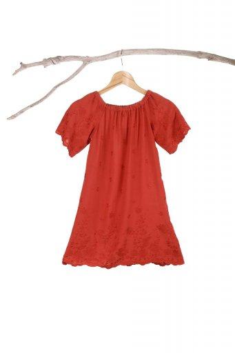 海外ファッションや大人カジュアルのためのボヘミアンブランドANGIE(アンジー)のFloral Embroidered Kids Dress 花柄刺繍・子供用ワンピース