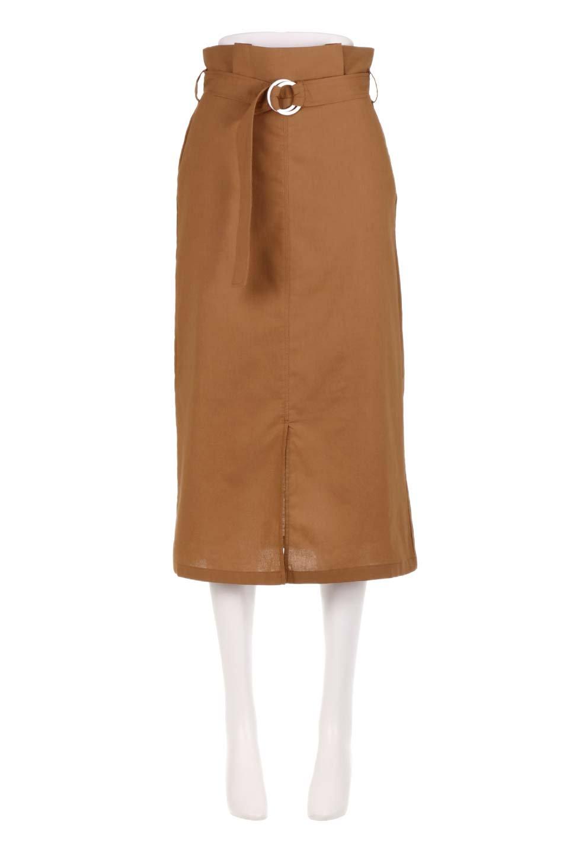 RingBeltCanvasSkirtリングベルト付キャンバススカート大人カジュアルに最適な海外ファッションのothers(その他インポートアイテム)のボトムやスカート。リングベルトが付属したキャンバス地のスカート。足長効果抜群のハイウエストタイプ。/main-5