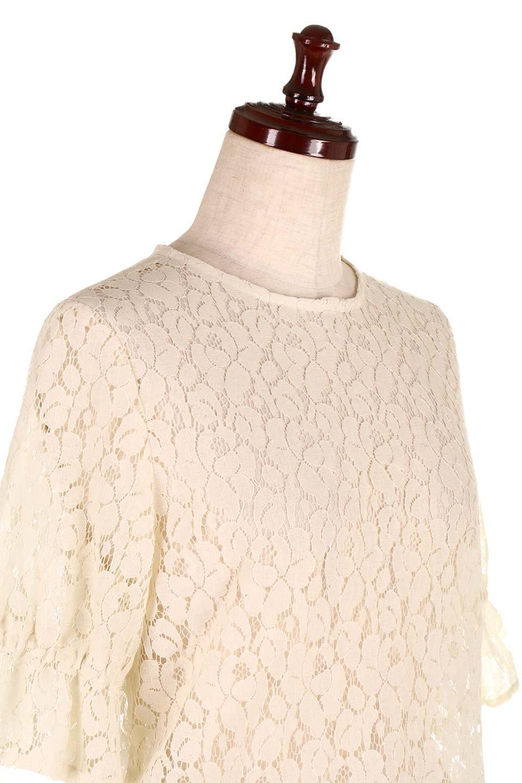 CandySleeveRaschelLaceBlouseキャンディースリーブ・総レースブラウス大人カジュアルに最適な海外ファッションのothers(その他インポートアイテム)のトップスやシャツ・ブラウス。5分袖のキャンディースリーブが可愛い総レースのブラウス。二の腕がちょうど隠れる袖の長さが嬉しいブラウス。/main-15