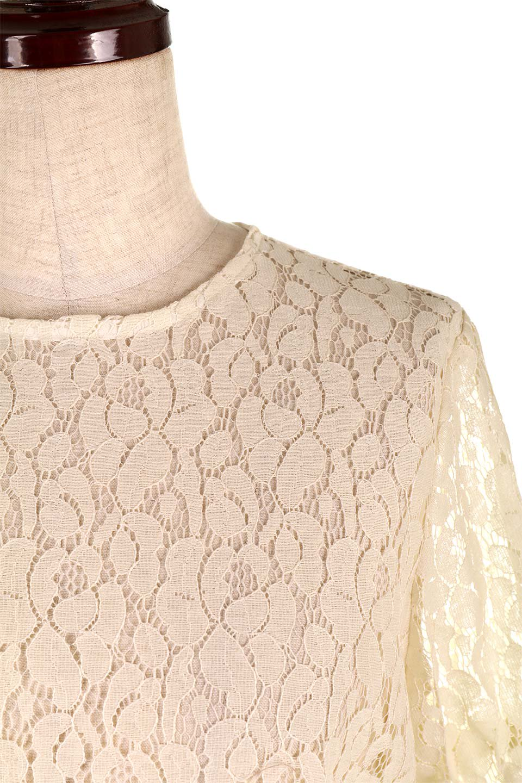 CandySleeveRaschelLaceBlouseキャンディースリーブ・総レースブラウス大人カジュアルに最適な海外ファッションのothers(その他インポートアイテム)のトップスやシャツ・ブラウス。5分袖のキャンディースリーブが可愛い総レースのブラウス。二の腕がちょうど隠れる袖の長さが嬉しいブラウス。/main-16