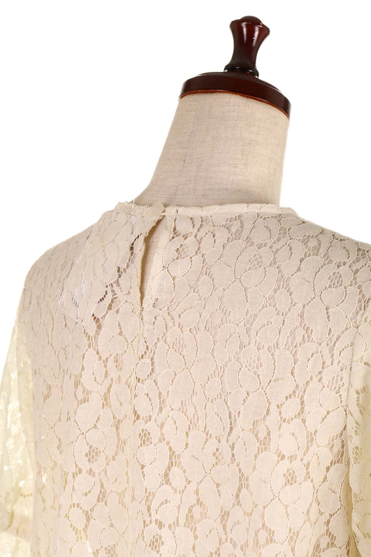 CandySleeveRaschelLaceBlouseキャンディースリーブ・総レースブラウス大人カジュアルに最適な海外ファッションのothers(その他インポートアイテム)のトップスやシャツ・ブラウス。5分袖のキャンディースリーブが可愛い総レースのブラウス。二の腕がちょうど隠れる袖の長さが嬉しいブラウス。/main-17