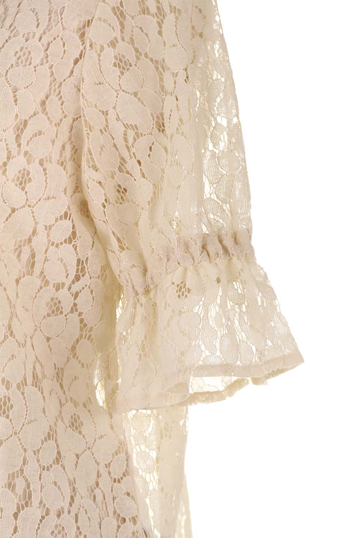 CandySleeveRaschelLaceBlouseキャンディースリーブ・総レースブラウス大人カジュアルに最適な海外ファッションのothers(その他インポートアイテム)のトップスやシャツ・ブラウス。5分袖のキャンディースリーブが可愛い総レースのブラウス。二の腕がちょうど隠れる袖の長さが嬉しいブラウス。/main-19
