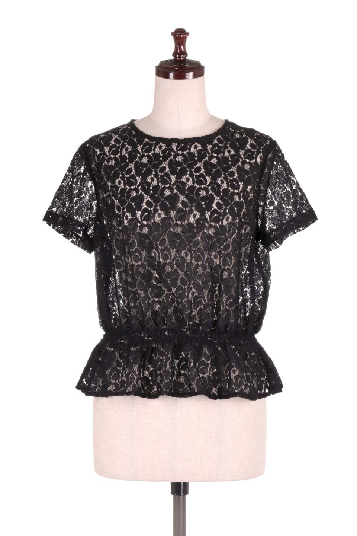RaschelLacePeplumBlouse総レース・ぺプラムブラウス大人カジュアルに最適な海外ファッションのothers(その他インポートアイテム)のトップスやシャツ・ブラウス。総レースが可愛いショートスリーブのぺプラムブラウス。気負わず着れるのが嬉しい人気のシースルーアイテム。/main-10