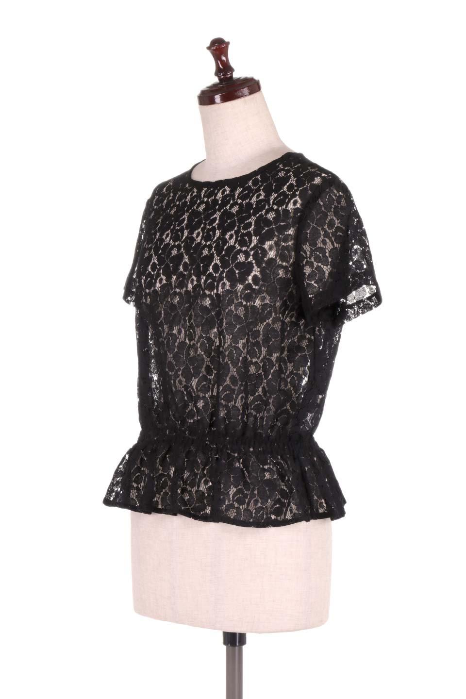 RaschelLacePeplumBlouse総レース・ぺプラムブラウス大人カジュアルに最適な海外ファッションのothers(その他インポートアイテム)のトップスやシャツ・ブラウス。総レースが可愛いショートスリーブのぺプラムブラウス。気負わず着れるのが嬉しい人気のシースルーアイテム。/main-11