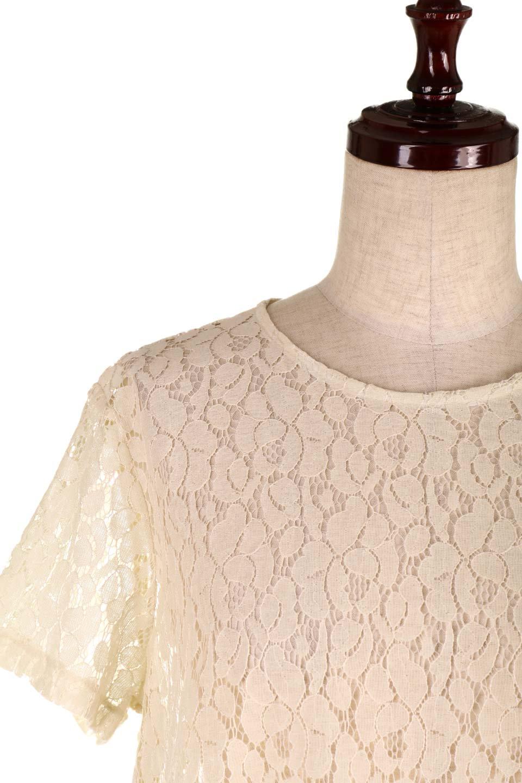 RaschelLacePeplumBlouse総レース・ぺプラムブラウス大人カジュアルに最適な海外ファッションのothers(その他インポートアイテム)のトップスやシャツ・ブラウス。総レースが可愛いショートスリーブのぺプラムブラウス。気負わず着れるのが嬉しい人気のシースルーアイテム。/main-16