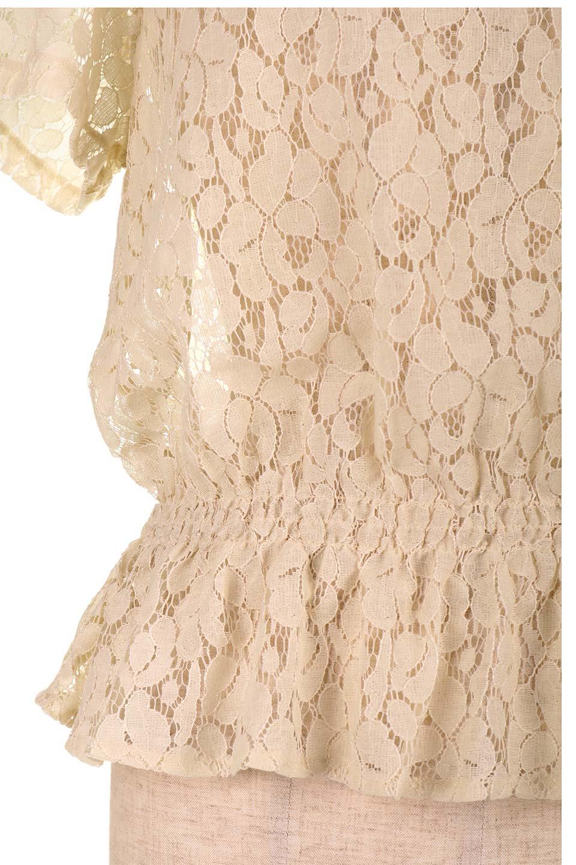 RaschelLacePeplumBlouse総レース・ぺプラムブラウス大人カジュアルに最適な海外ファッションのothers(その他インポートアイテム)のトップスやシャツ・ブラウス。総レースが可愛いショートスリーブのぺプラムブラウス。気負わず着れるのが嬉しい人気のシースルーアイテム。/main-22