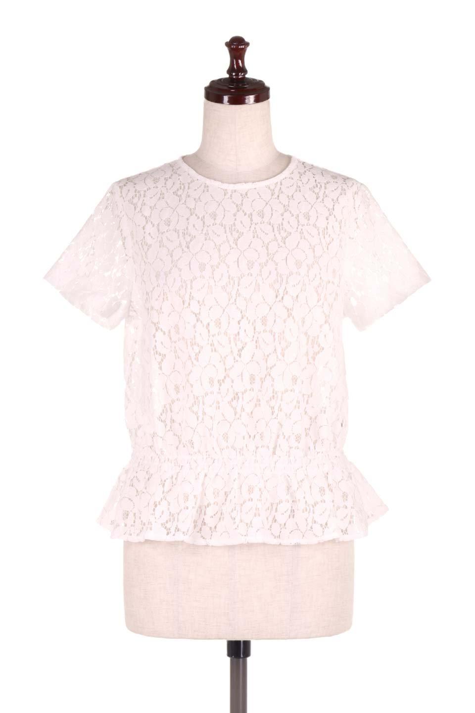 RaschelLacePeplumBlouse総レース・ぺプラムブラウス大人カジュアルに最適な海外ファッションのothers(その他インポートアイテム)のトップスやシャツ・ブラウス。総レースが可愛いショートスリーブのぺプラムブラウス。気負わず着れるのが嬉しい人気のシースルーアイテム。/main-5