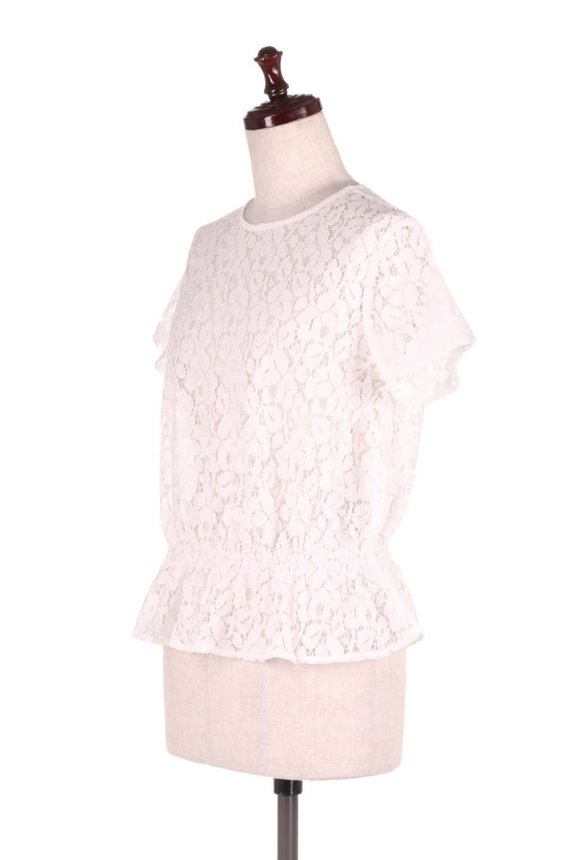 RaschelLacePeplumBlouse総レース・ぺプラムブラウス大人カジュアルに最適な海外ファッションのothers(その他インポートアイテム)のトップスやシャツ・ブラウス。総レースが可愛いショートスリーブのぺプラムブラウス。気負わず着れるのが嬉しい人気のシースルーアイテム。/main-6