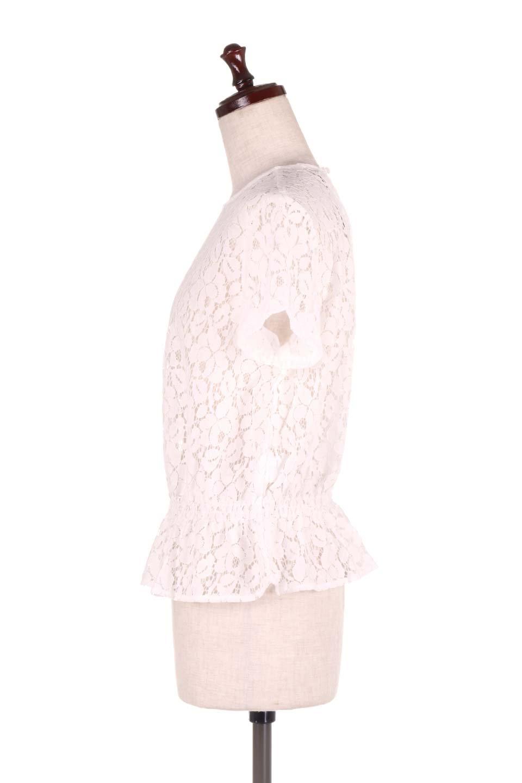 RaschelLacePeplumBlouse総レース・ぺプラムブラウス大人カジュアルに最適な海外ファッションのothers(その他インポートアイテム)のトップスやシャツ・ブラウス。総レースが可愛いショートスリーブのぺプラムブラウス。気負わず着れるのが嬉しい人気のシースルーアイテム。/main-7