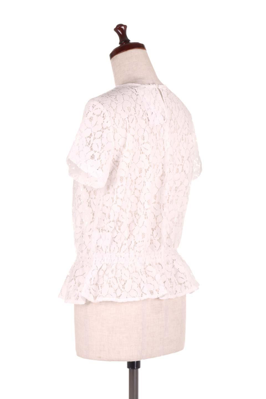RaschelLacePeplumBlouse総レース・ぺプラムブラウス大人カジュアルに最適な海外ファッションのothers(その他インポートアイテム)のトップスやシャツ・ブラウス。総レースが可愛いショートスリーブのぺプラムブラウス。気負わず着れるのが嬉しい人気のシースルーアイテム。/main-8