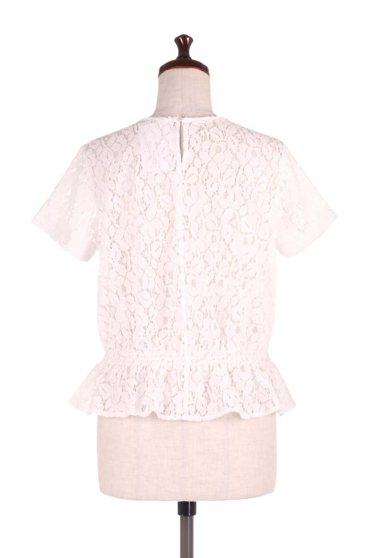 RaschelLacePeplumBlouse総レース・ぺプラムブラウス大人カジュアルに最適な海外ファッションのothers(その他インポートアイテム)のトップスやシャツ・ブラウス。総レースが可愛いショートスリーブのぺプラムブラウス。気負わず着れるのが嬉しい人気のシースルーアイテム。/main-9