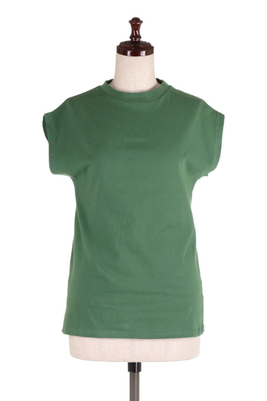 FlenchSleeveT-shirtsフレンチスリーブ・シンプルTシャツ大人カジュアルに最適な海外ファッションのothers(その他インポートアイテム)のトップスやTシャツ。1枚は持っていたいシンプルデザインのフレンチスリーブTシャツ。半袖でもなくノースリーブでもない、ちょっとオシャレに見えるフレンチスリーブ。/main-10