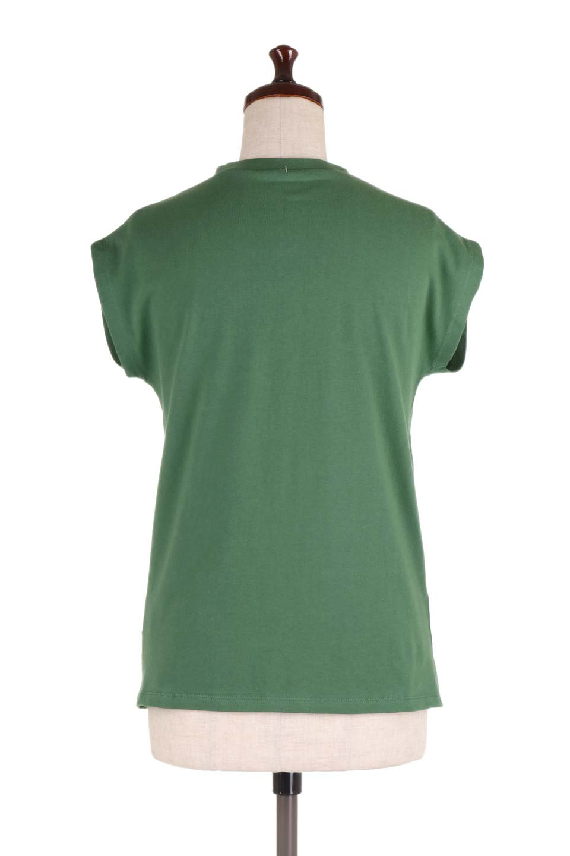 FlenchSleeveT-shirtsフレンチスリーブ・シンプルTシャツ大人カジュアルに最適な海外ファッションのothers(その他インポートアイテム)のトップスやTシャツ。1枚は持っていたいシンプルデザインのフレンチスリーブTシャツ。半袖でもなくノースリーブでもない、ちょっとオシャレに見えるフレンチスリーブ。/main-14