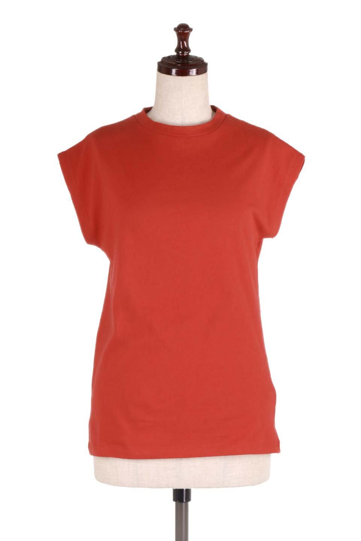 FlenchSleeveT-shirtsフレンチスリーブ・シンプルTシャツ大人カジュアルに最適な海外ファッションのothers(その他インポートアイテム)のトップスやTシャツ。1枚は持っていたいシンプルデザインのフレンチスリーブTシャツ。半袖でもなくノースリーブでもない、ちょっとオシャレに見えるフレンチスリーブ。/main-15