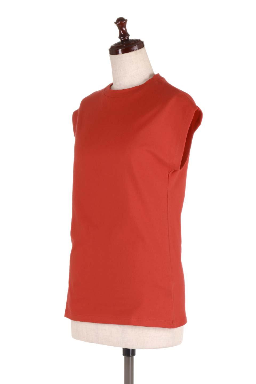 FlenchSleeveT-shirtsフレンチスリーブ・シンプルTシャツ大人カジュアルに最適な海外ファッションのothers(その他インポートアイテム)のトップスやTシャツ。1枚は持っていたいシンプルデザインのフレンチスリーブTシャツ。半袖でもなくノースリーブでもない、ちょっとオシャレに見えるフレンチスリーブ。/main-16