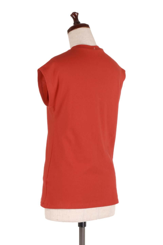 FlenchSleeveT-shirtsフレンチスリーブ・シンプルTシャツ大人カジュアルに最適な海外ファッションのothers(その他インポートアイテム)のトップスやTシャツ。1枚は持っていたいシンプルデザインのフレンチスリーブTシャツ。半袖でもなくノースリーブでもない、ちょっとオシャレに見えるフレンチスリーブ。/main-18
