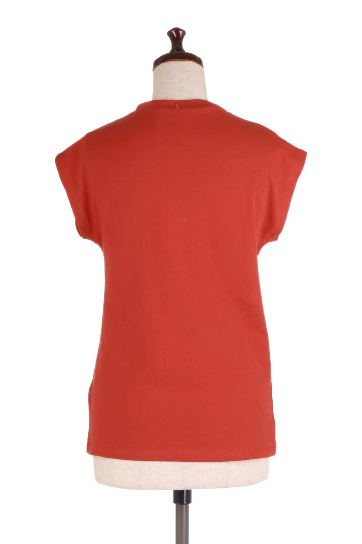 FlenchSleeveT-shirtsフレンチスリーブ・シンプルTシャツ大人カジュアルに最適な海外ファッションのothers(その他インポートアイテム)のトップスやTシャツ。1枚は持っていたいシンプルデザインのフレンチスリーブTシャツ。半袖でもなくノースリーブでもない、ちょっとオシャレに見えるフレンチスリーブ。/main-19