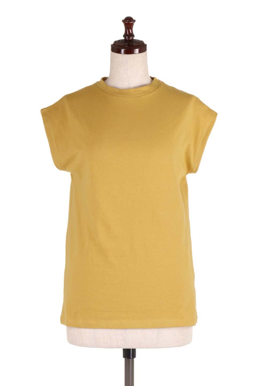 FlenchSleeveT-shirtsフレンチスリーブ・シンプルTシャツ大人カジュアルに最適な海外ファッションのothers(その他インポートアイテム)のトップスやTシャツ。1枚は持っていたいシンプルデザインのフレンチスリーブTシャツ。半袖でもなくノースリーブでもない、ちょっとオシャレに見えるフレンチスリーブ。/main-5