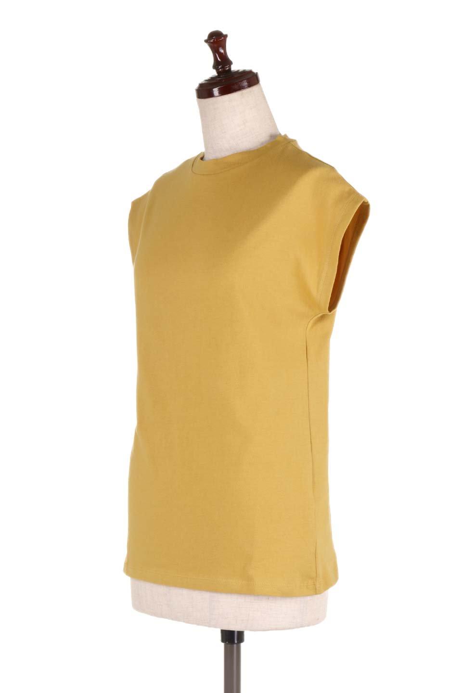 FlenchSleeveT-shirtsフレンチスリーブ・シンプルTシャツ大人カジュアルに最適な海外ファッションのothers(その他インポートアイテム)のトップスやTシャツ。1枚は持っていたいシンプルデザインのフレンチスリーブTシャツ。半袖でもなくノースリーブでもない、ちょっとオシャレに見えるフレンチスリーブ。/main-6