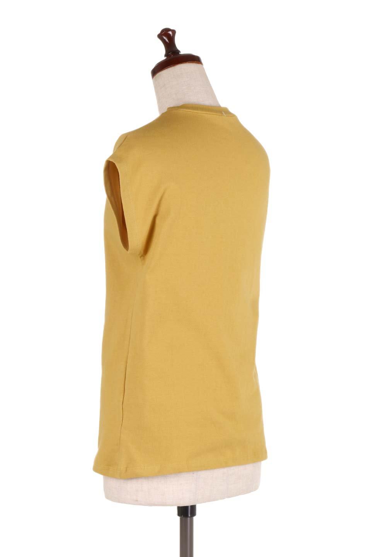FlenchSleeveT-shirtsフレンチスリーブ・シンプルTシャツ大人カジュアルに最適な海外ファッションのothers(その他インポートアイテム)のトップスやTシャツ。1枚は持っていたいシンプルデザインのフレンチスリーブTシャツ。半袖でもなくノースリーブでもない、ちょっとオシャレに見えるフレンチスリーブ。/main-8