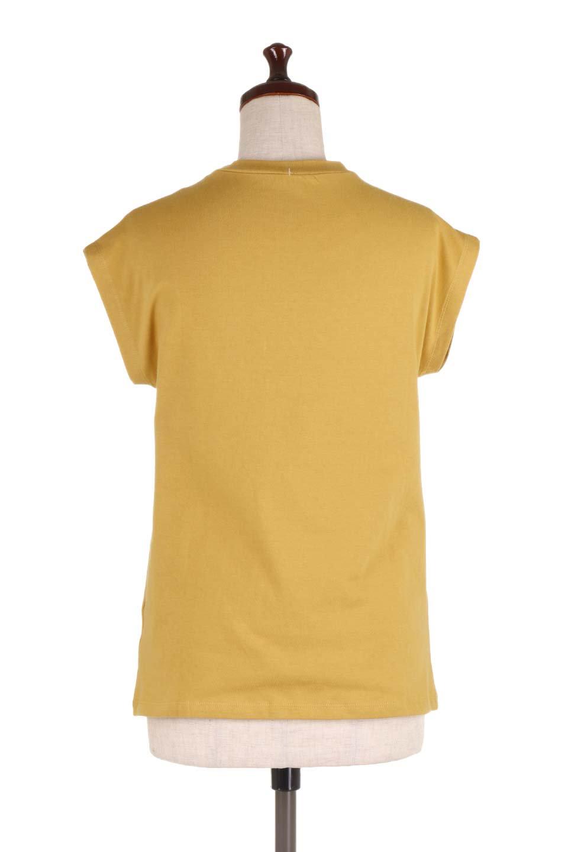 FlenchSleeveT-shirtsフレンチスリーブ・シンプルTシャツ大人カジュアルに最適な海外ファッションのothers(その他インポートアイテム)のトップスやTシャツ。1枚は持っていたいシンプルデザインのフレンチスリーブTシャツ。半袖でもなくノースリーブでもない、ちょっとオシャレに見えるフレンチスリーブ。/main-9