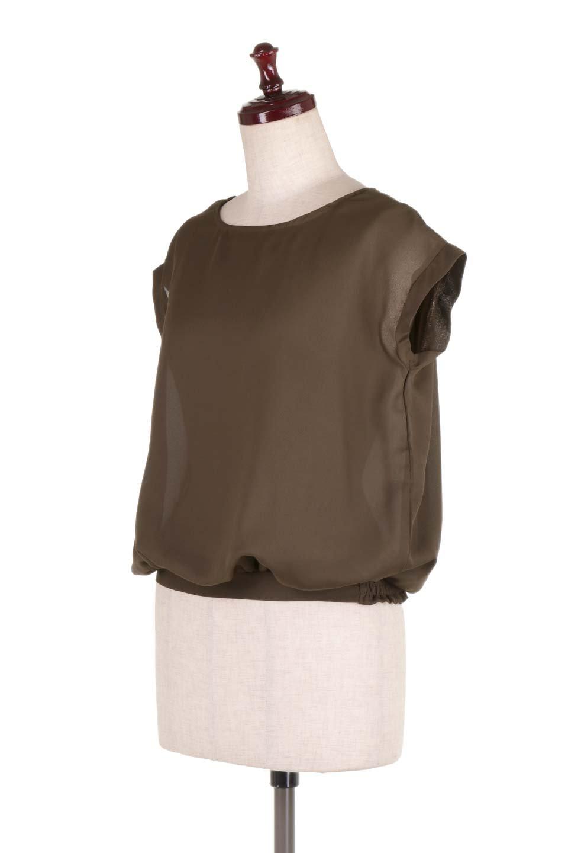 SleevelessOpenBackBlouseノースリーブ・オープンバックブラウス大人カジュアルに最適な海外ファッションのothers(その他インポートアイテム)のトップスやシャツ・ブラウス。背中が開いたオープンバックスタイルのノースリーブブラウス。透け感のある涼しげで大人ぽいアイテムです。/main-11