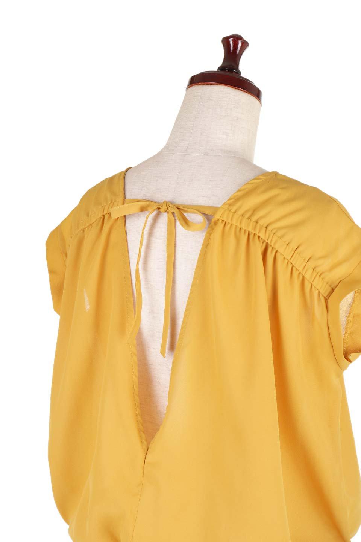 SleevelessOpenBackBlouseノースリーブ・オープンバックブラウス大人カジュアルに最適な海外ファッションのothers(その他インポートアイテム)のトップスやシャツ・ブラウス。背中が開いたオープンバックスタイルのノースリーブブラウス。透け感のある涼しげで大人ぽいアイテムです。/main-21