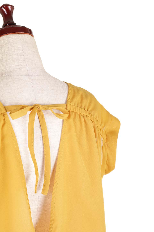 SleevelessOpenBackBlouseノースリーブ・オープンバックブラウス大人カジュアルに最適な海外ファッションのothers(その他インポートアイテム)のトップスやシャツ・ブラウス。背中が開いたオープンバックスタイルのノースリーブブラウス。透け感のある涼しげで大人ぽいアイテムです。/main-24