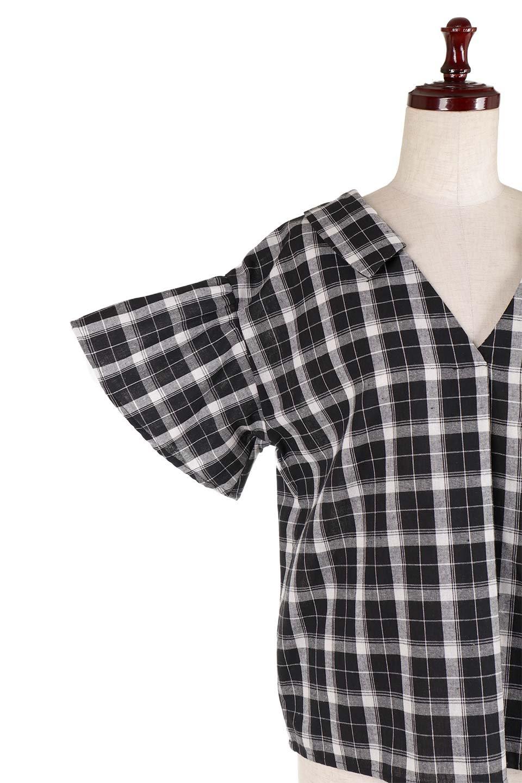 BackRibbonSkipperBlouseバックリボン・スキッパーブラウス大人カジュアルに最適な海外ファッションのothers(その他インポートアイテム)のトップスやシャツ・ブラウス。ゆったり目のシルエットで風通しの良いスキッパーブラウス。太めの袖と背中のリボンがポイントのカジュアルアイテムです。/main-10