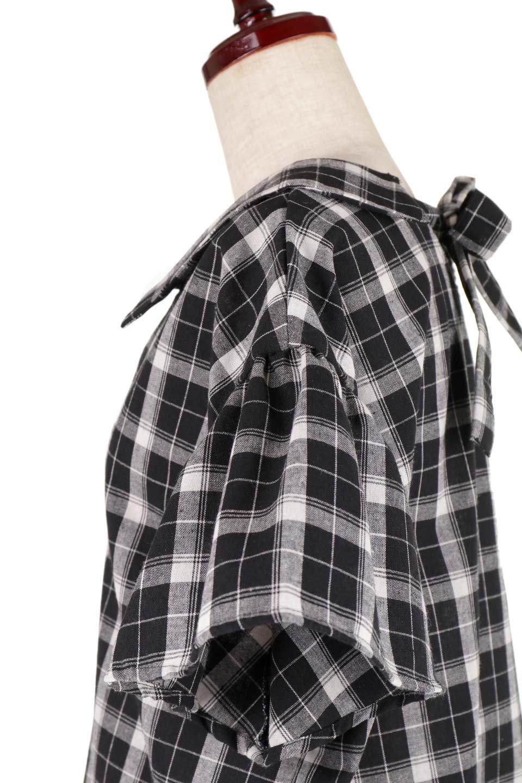 BackRibbonSkipperBlouseバックリボン・スキッパーブラウス大人カジュアルに最適な海外ファッションのothers(その他インポートアイテム)のトップスやシャツ・ブラウス。ゆったり目のシルエットで風通しの良いスキッパーブラウス。太めの袖と背中のリボンがポイントのカジュアルアイテムです。/main-12