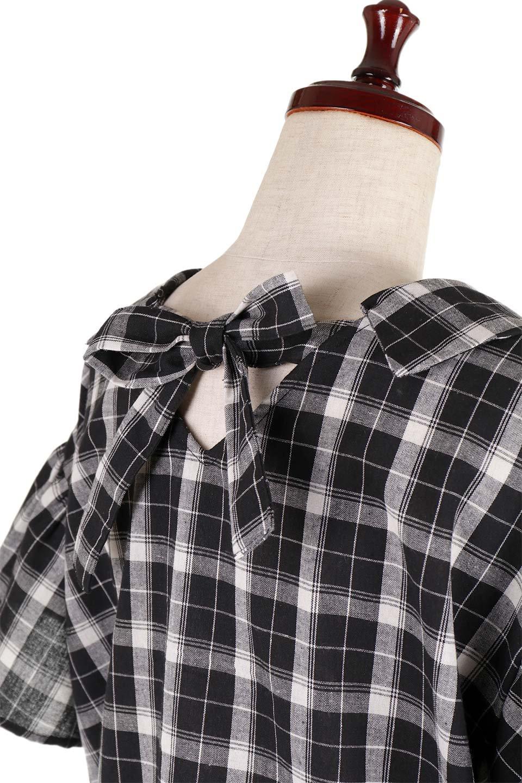BackRibbonSkipperBlouseバックリボン・スキッパーブラウス大人カジュアルに最適な海外ファッションのothers(その他インポートアイテム)のトップスやシャツ・ブラウス。ゆったり目のシルエットで風通しの良いスキッパーブラウス。太めの袖と背中のリボンがポイントのカジュアルアイテムです。/main-14