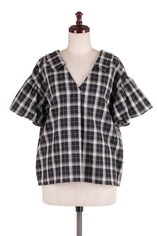 BackRibbonSkipperBlouseバックリボン・スキッパーブラウス大人カジュアルに最適な海外ファッションのothers(その他インポートアイテム)のトップスやシャツ・ブラウス。ゆったり目のシルエットで風通しの良いスキッパーブラウス。太めの袖と背中のリボンがポイントのカジュアルアイテムです。/main-5